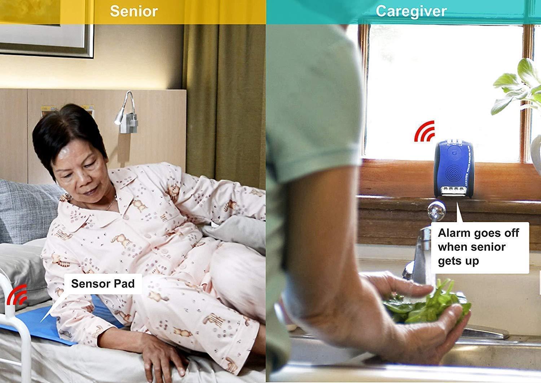 "Amazon com: GleenMed Wireless Caregiver Alarm Set with 10"" x"