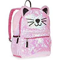 Kitty Cat Sequin Backpack for Girls - Deluxe Kitten Backpack with 2 Way Sequins, 16 Inch