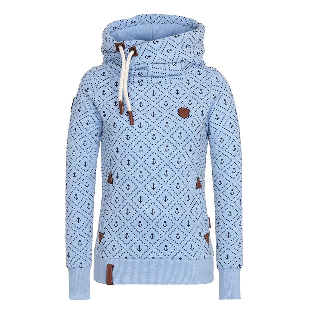 Tookang Damen Sweatshirt Langarm-Kapuzenpulli Pullover Warme Strickjacke Reißverschluss Jacke Sweatshirt Mantel