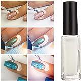 DANCINGNAIL 10ml Nail Art Forniture unghie gel Rifornimenti essenziali per unghie Nail chiodo Protezione liquido per edge di unghie Peel off Latex Bianco