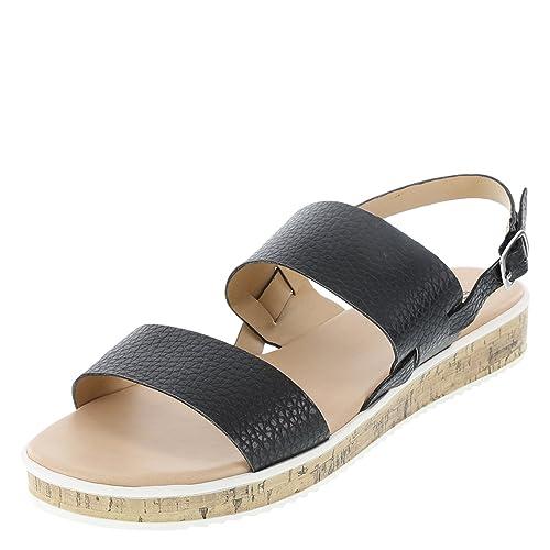 2661050b668 Brash Black Women s Thatch Flat Sandal 5.5 Regular