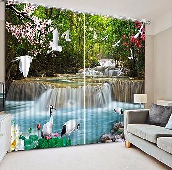AuBergewohnlich Sproud Moderne 3D Malerei Vorhang Wasserfall Wald  Landschaft Vorhänge Für Wohnzimmer Blackout Schlafzimmer Fenster Vorhang