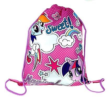 197b948f8bb4 Girls My Little Pony Drawstring Gym Bag  Amazon.co.uk  Clothing