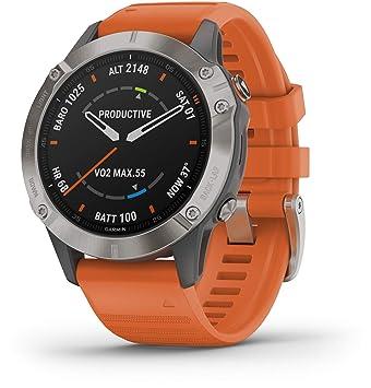 Garmin - Reloj GPS con Pulsómetro Fenix 6 Zafiro Titanio: Amazon ...