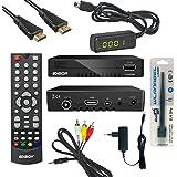 Edision Kabelreceiver progressiv hybrid lite DVB-C für digitales Kabelfernsehen Komplettset(IR,Display,Cinch,WLAN) inkl. Kabelabel HDMI Kabel