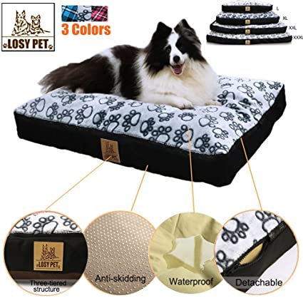 LOSY PET PERDIDO Cinco Caras Impermeable Cama para Perros Grande Lavable Mat Jumbo Grande Pet Faux