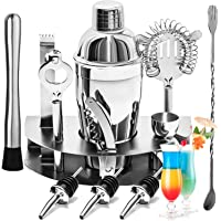 YOMYM Cocktail Bar Set Kit 12 Pieces Bar Utensils, Sets for Bar Cocktail Shaker Stainless Steel. Ideal Set for…