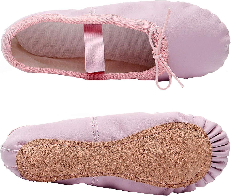 JIASUQI Ballet Dance Shoes for Kids Girls Womens Flat Non-Slip Yoga Socks Gymnastics Dancing Slippers