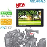 "FEELWORLD FW279 7"" Ultra 2200nit Brightness Camera Field Video Monitor Daylight Viewable Full HD 1920x1200 4K HDMI Input Output for DSLR Sony Canon Nikon Olympus Pentax Panasonic"