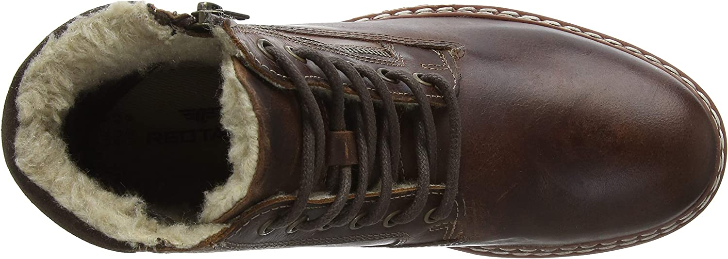 New Mens Red Tape Brown Sawston Leather Boots Chukka Lace Up Zip