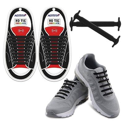 ecf98c5fb2ca8 Homar No Tie Lacets pour les Enfants et Adultes - Imperméable Silicone Flat  Élastique Lacets de