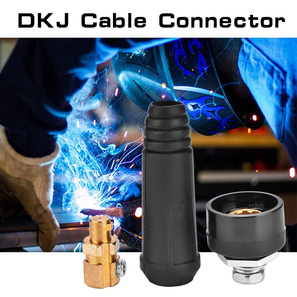 1Pcs Adaptador de instalaci/ón r/ápida del conector r/ápido del cable de soldadura de estilo europeo de la serie DKJ # 1 Conector del cable DKJ