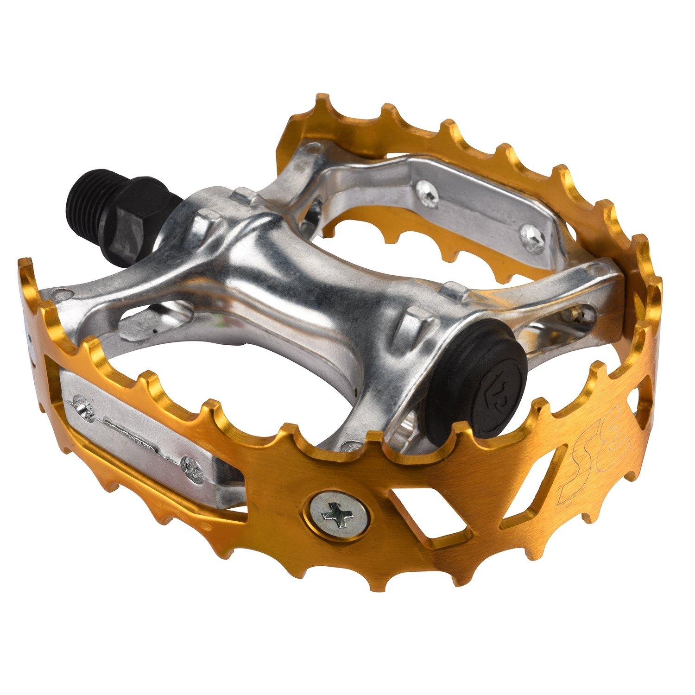 Se Bear Trap BMXバイクペダル B077V717KPゴールド
