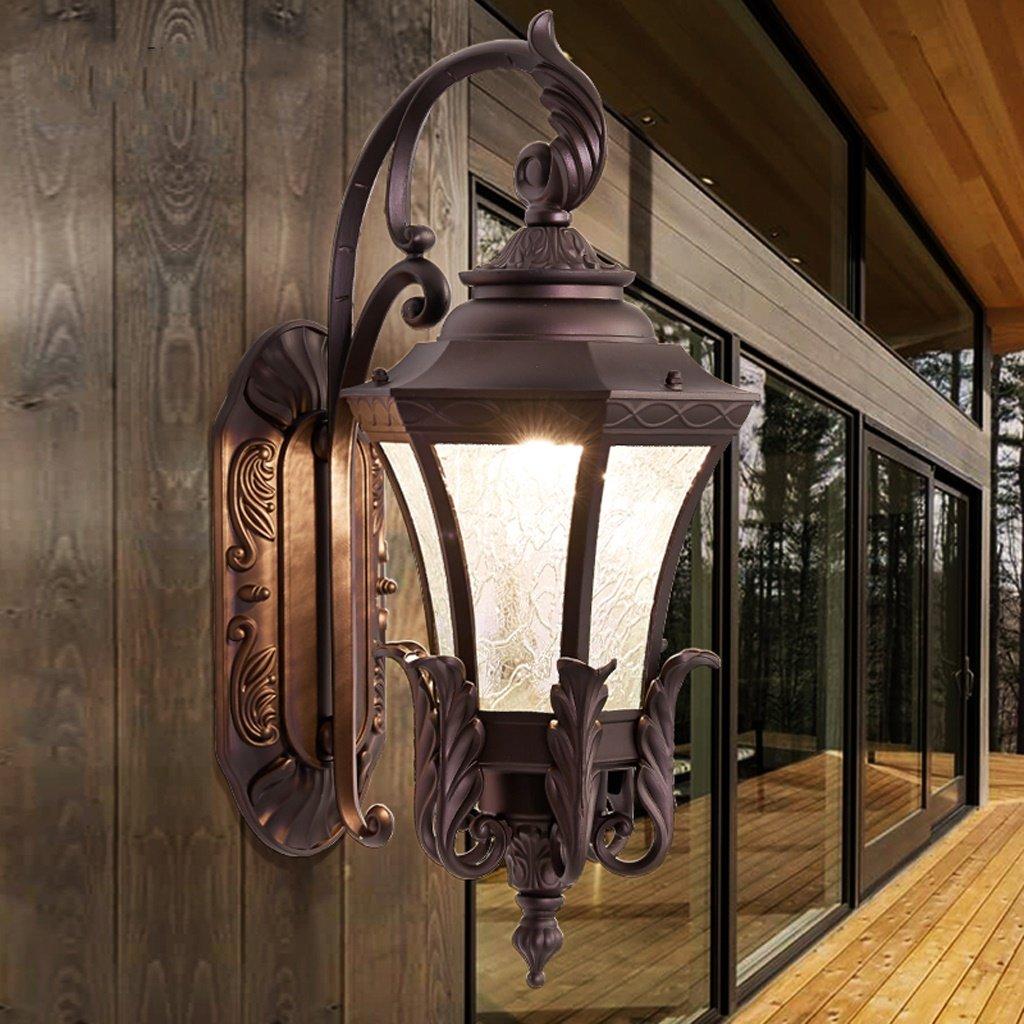 AMOS Esterna europea impermeabile lampada da parete corridoio giardino villa porta esterna patio balcone esterno lampade d'epoca (dimensioni   26  52cm)