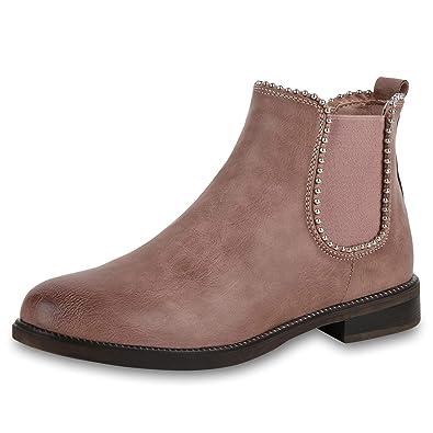 SCARPE VITA Damen Stiefeletten Chelsea Boots Leicht
