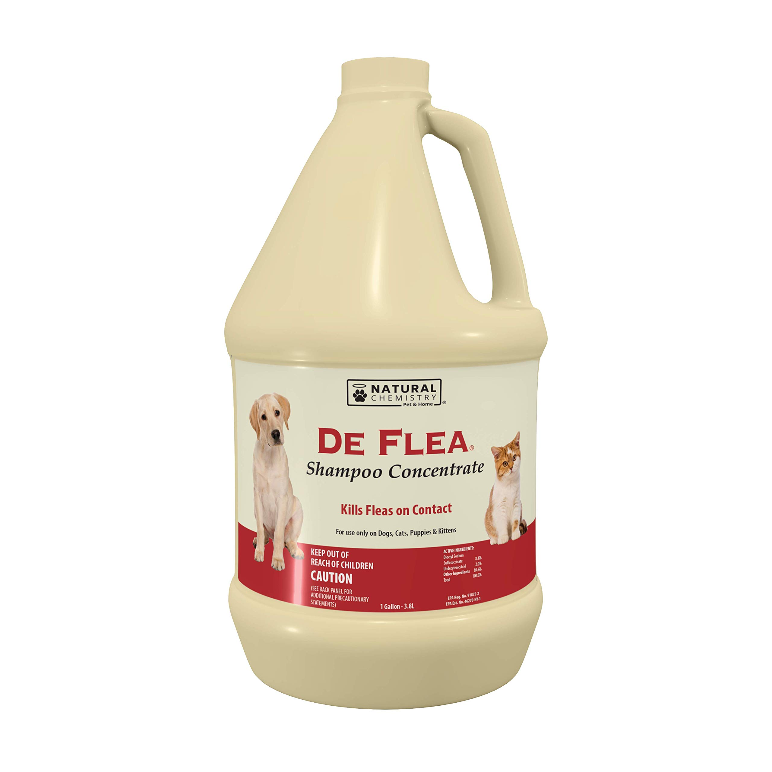 Natural Chemistry De Flea Concentrate Flea and Tick Shampoo, 1-Gallon by Natural Chemistry