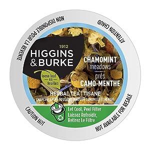 Higgins & Burke Chamomint Meadows, Loose Leaf Herbal Tea, Keurig K-Cup Brewer Compatible Pods, 24 Count