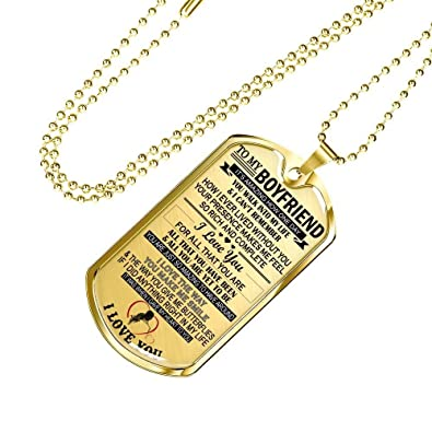 To My Boyfriend Dog Tag Military