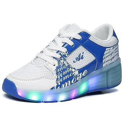 Laufschuhe Junge Kischers Rollen Mädchen Sohle Heelys 7 Mit Turnschuhe Leuchtet Kinder Farbe Farbwechsel Sneakers Led Sportschuheeu 36 Leuchtend hQtrsdC