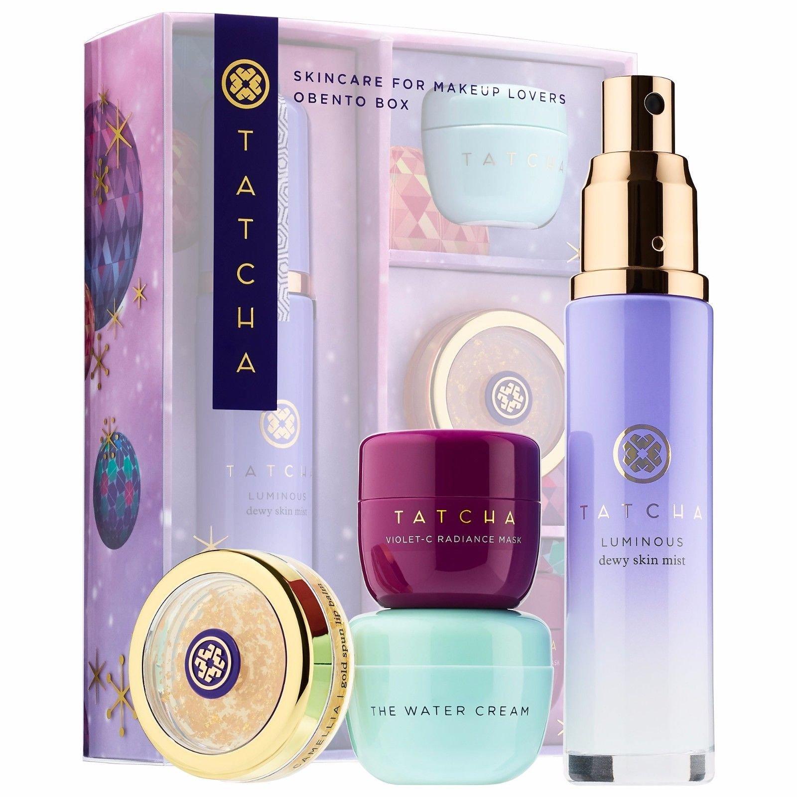 TATCHA Skincare for Makeup Lovers Obento Set Box (4 Pieces Kit)