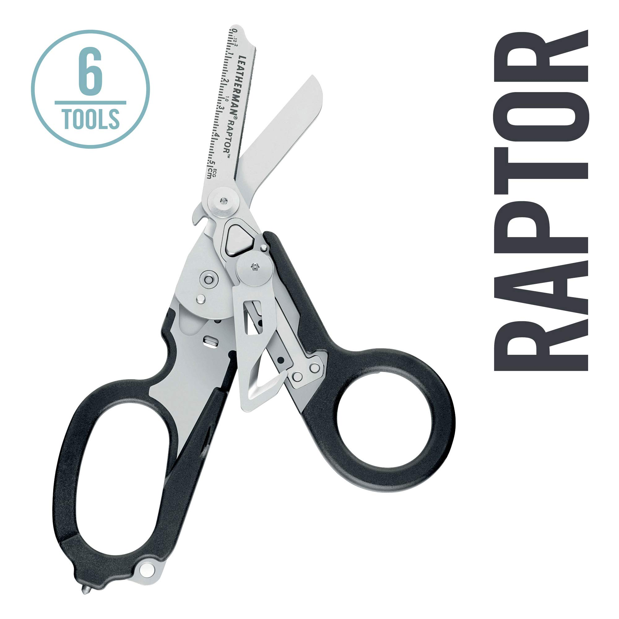 LEATHERMAN - Raptor Emergency Response Shears with Strap Cutter and Glass Breaker, Black with Utility Holster (FFP) by LEATHERMAN