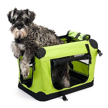 Jaula de tela plegable de viaje para perros medianos (50 cm. de ...
