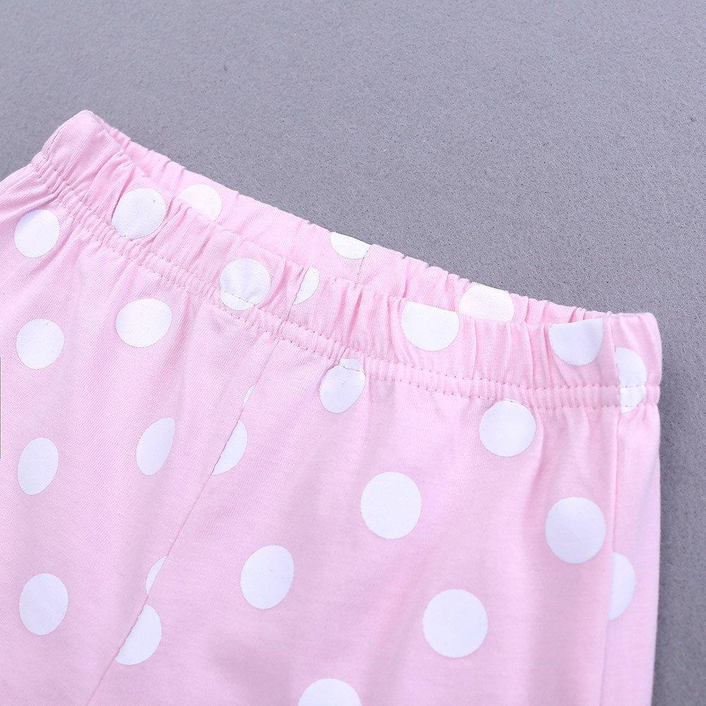 Lurryly 2Pcs Baby Boys Girls Pajamas Cartoon Print Tops Shorts Outfits Set 2-7 T