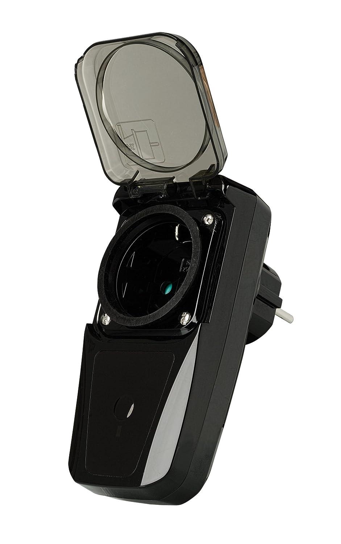 Trust AGDR-3500 Interruptor inalá mbrico para enchufe exterior, negro 71039