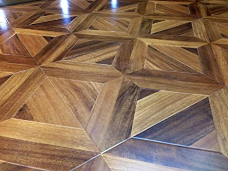 Natural Oak Parquet Tile Effect Golden Laminate Flooring Sample