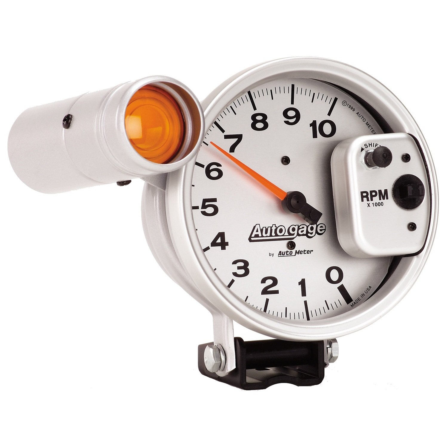 AUTO METER 233911 Autogage Silver Tachometer by AUTO METER