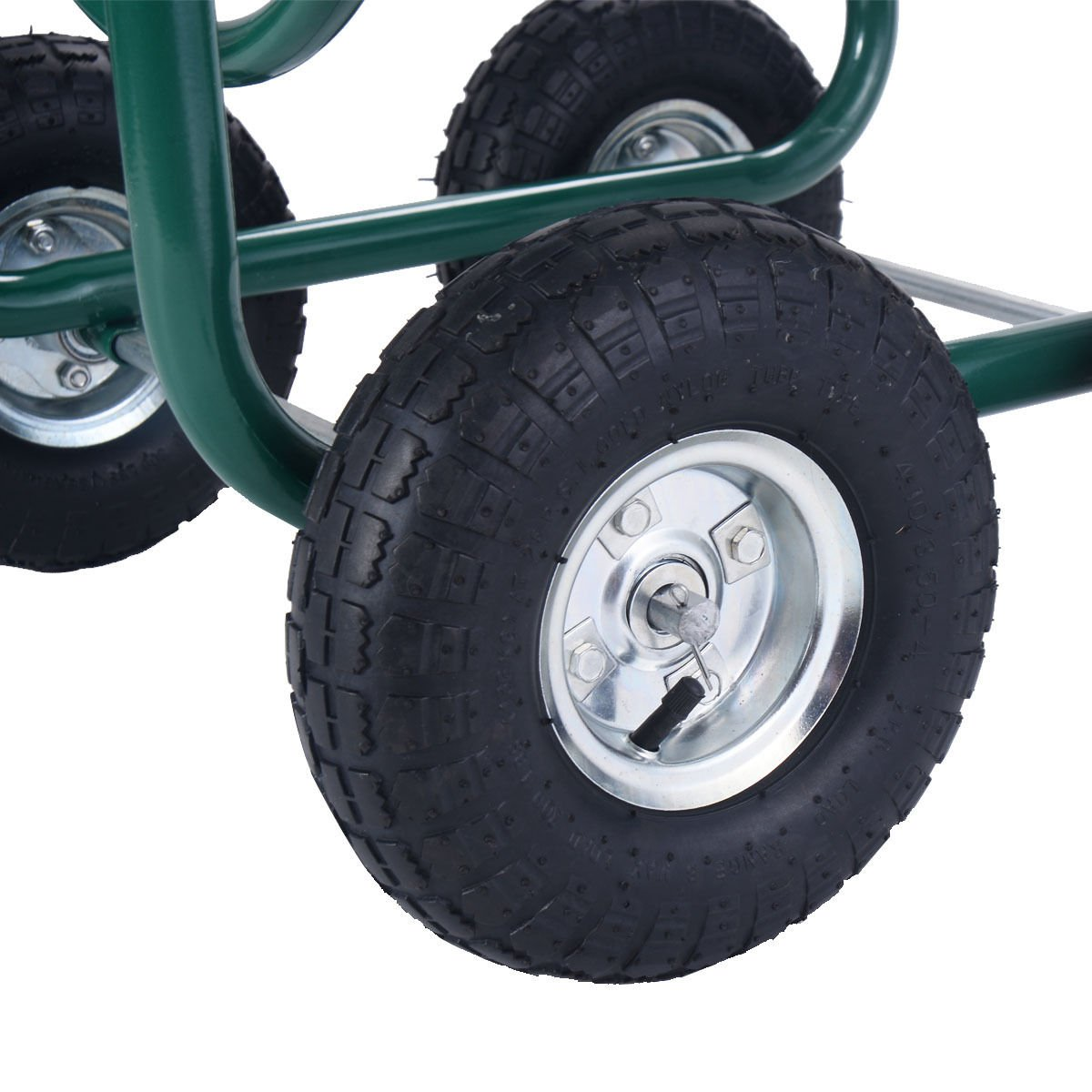 Wakrays Garden Water Hose Reel Cart 300FT Outdoor Heavy Duty Yard Planting W/Basket New by Wakrays (Image #5)