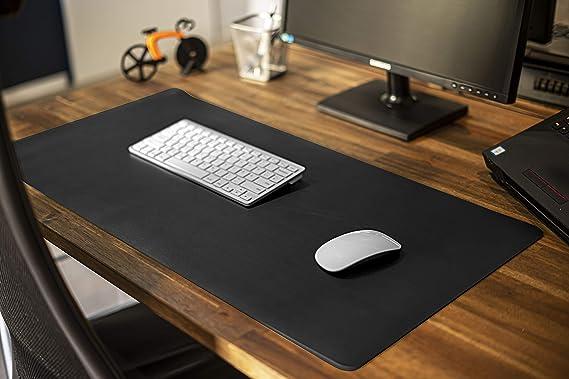 PU Leder Mauspad Tischunterlage Schreibtischmatte//rutschfest f/ür Computer Laptop Beidseitig Schwarz MyGadget Schreibtischunterlage 90 x 45 cm