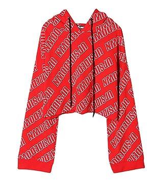 Hxp Sudadera Chaqueta De Suéter con Capucha De Las Señoras De Tendencia De Impresión De Carta,Red: Amazon.es: Deportes y aire libre