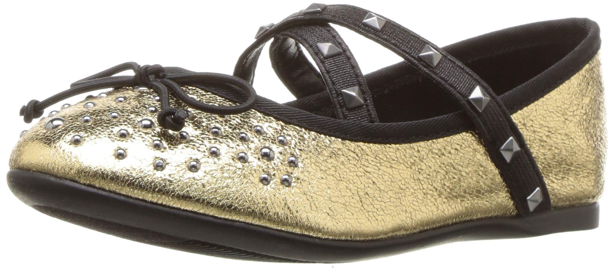 Nina Girls' Averi Ballet Flat, Gold, 11 Medium US Little Kid