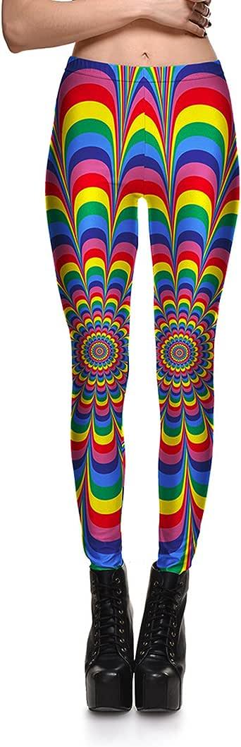 Fanii Quare Newest Elastic Slimming Floral Active Print Leggings Footless Tights