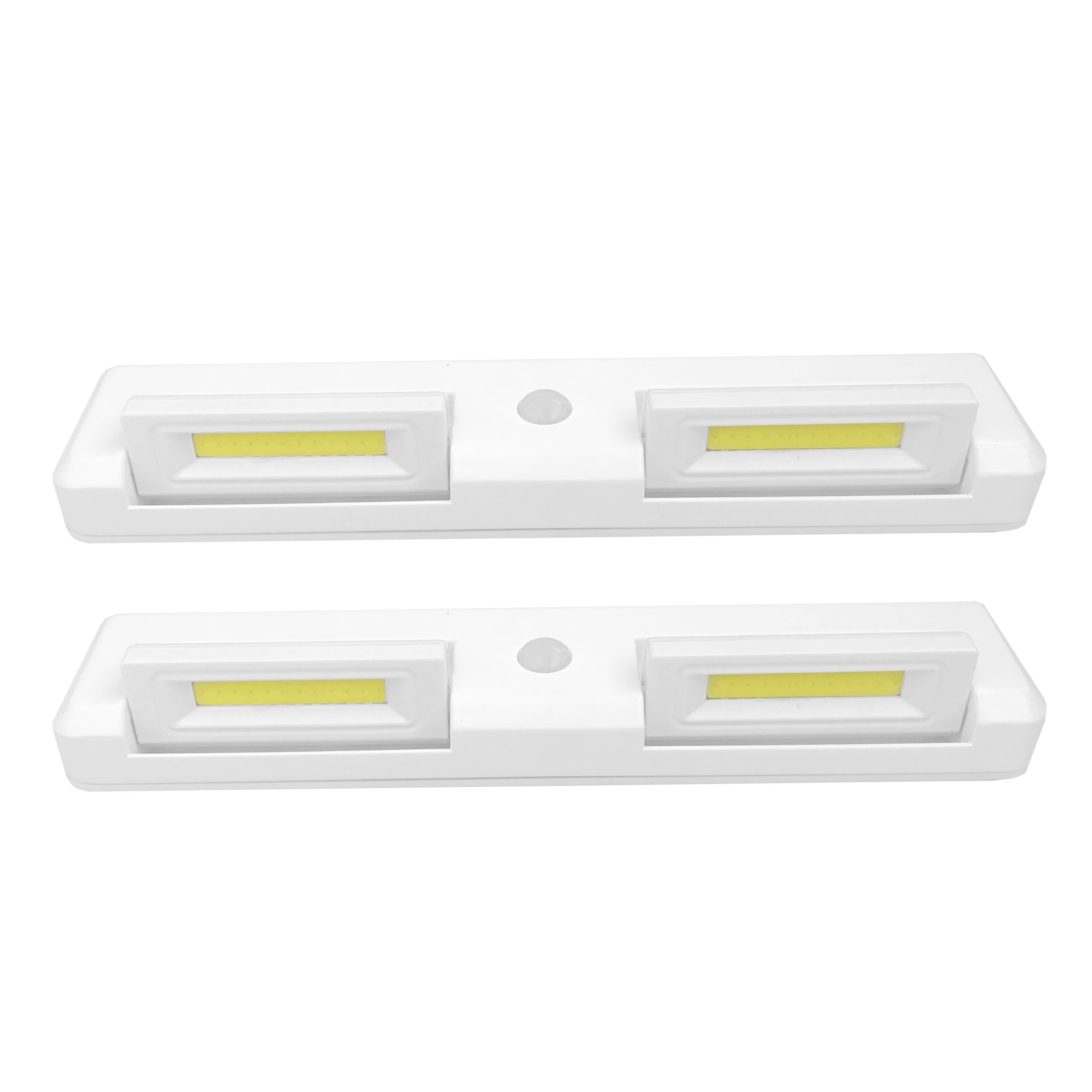 Seville Classics Adjustable Motion Activated LED Cabinet Lights (2-Pack), White