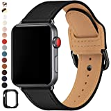 POWER PRIMACY Bands Compatible with Apple Watch Band 38mm 40mm 42mm 44mm, Top Grain Leather Smart Watch Strap Compatible…