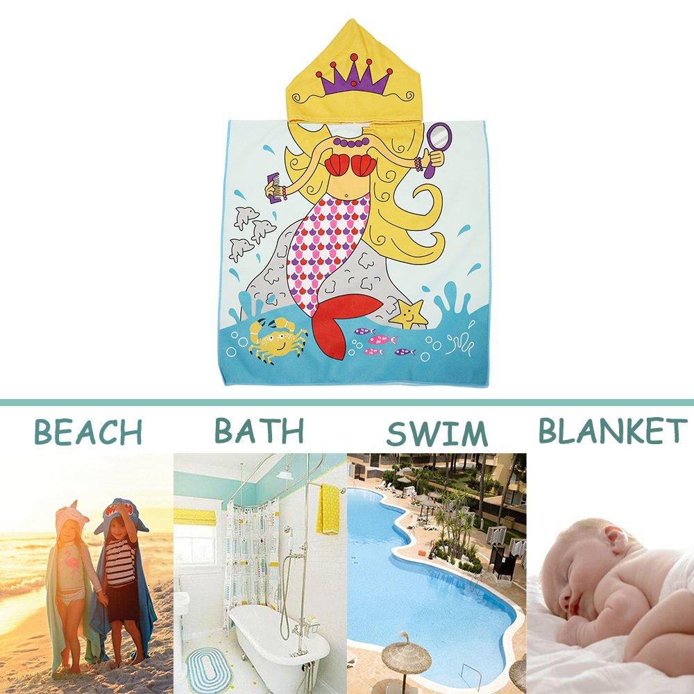 Xplanet Toddler Beach Bath Towel, Multi-use for Hooded Poncho Swim Beach Pool Poncho Bath Towel, Home Bath Robe for Kids Child 2-7 Years Boy&Girls by Xplanet (Image #4)