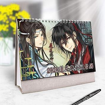 huanggua 2020 Anime Mo Dao Zu Shi - Calendario de Mesa con Calendario Diario, Hombre, 2: Amazon.es: Deportes y aire libre