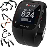 Polar M400 GPS Smart Sports Watch Black + Sharper Image 7-in-1 Total Resistance Fitness Kit