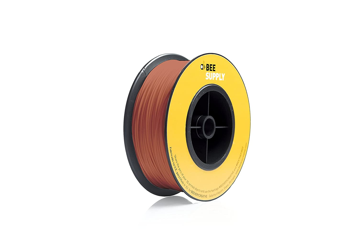 - A105 330gr Bright Red Orange BEEVERYCREATIVE CBA110335 BEESUPPLY PLA Filament for 3D Printers, 1.75mm