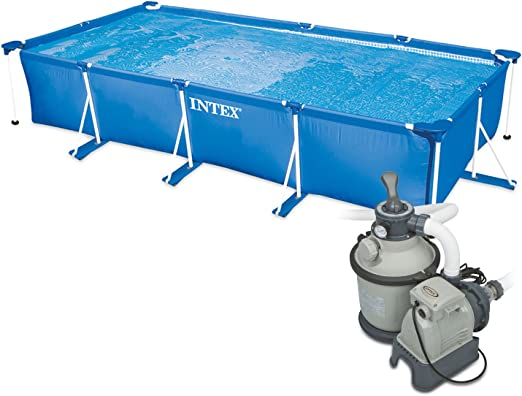 Intex 450 x 220 x 84 cm Frame Pool Set Family con Intex filtro de ...