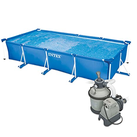 Intex 260 x 160 x 65 cm Frame Pool Set Family con Intex filtro de arena