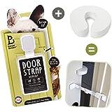 Door Buddy Door Latch Plus Door Stop. Keep Dog Out of Litter Box and Prevent Door from Closing. Easy Cat and Adult Entry. Installs in Seconds. Perfect Pet Gate and Cat Door Alternative! (Grey)