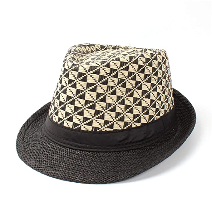 5f23cae2 Summer Straw Women Men Boater Beach Sun Hat for Gentleman Elegant Lady Sun  Hat Garland Panama