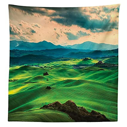 Amazoncom Room Decorations Tablecloth Tuscany Spring Rolling Hills - Tuscan spring dining table