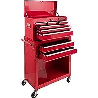 Arebos carro de taller 7 compartimentos | Caja herramientas | Recubrimiento antideslizante | Carro herramientas | Ruedas…