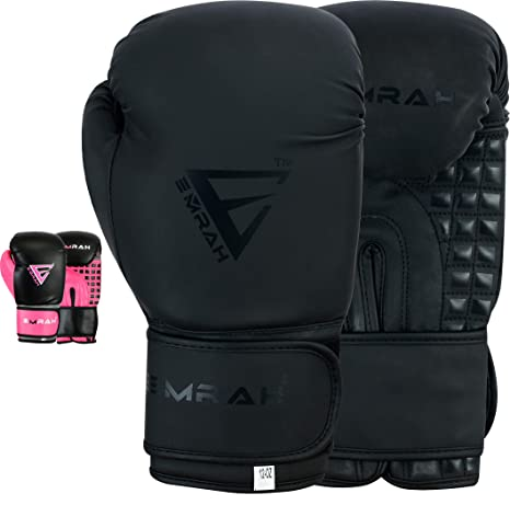 EMRAH Ladies Boxing Gloves Punch Bag Mitts Women/'s Double End Muay Thai