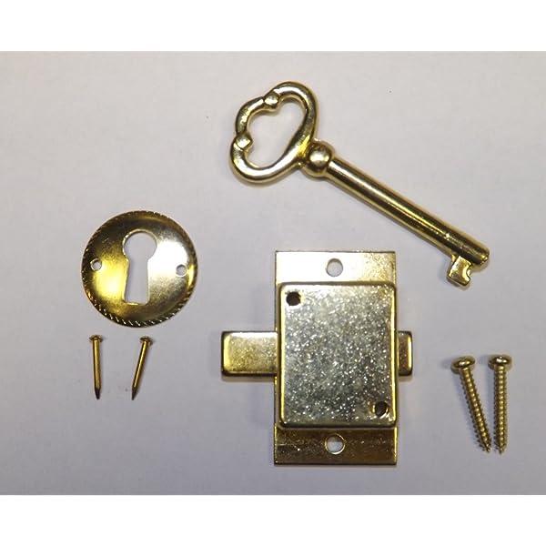 Grandfather Clock Door Lock Key Set New Brass Ridgeway Howard Miller Sligh Home Kitchen