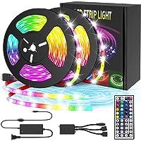 LED Strip Lights, 10m RGB Led Light Strip 300 LED 5050 SMD RGB Flexible Light Strip Kit with 44 Key IR Remote RGB…